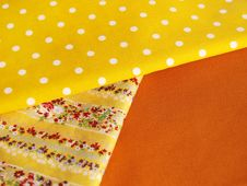 Free Cotton For Sewing (yellow Range) Royalty Free Stock Images - 14535399