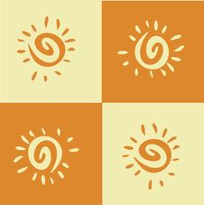 Free Sqared Orange Sun Stock Photo - 14535420