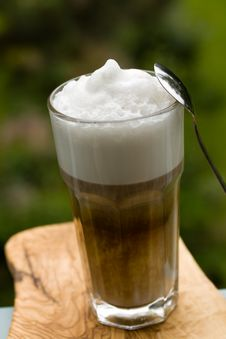 Free Coffee Latte Macchiato In A Glass Stock Photo - 14536260