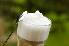 Free Coffee Latte Macchiato In A Glass Stock Photos - 14536263