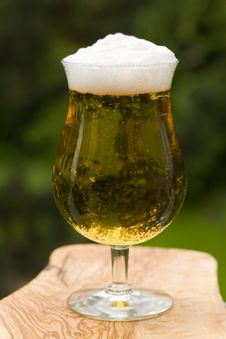 Glass Beer Or Lager,in The Restaurant Royalty Free Stock Images