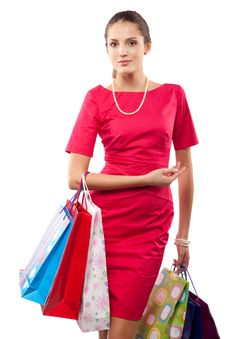 Free Woman Shopper Royalty Free Stock Images - 14536579