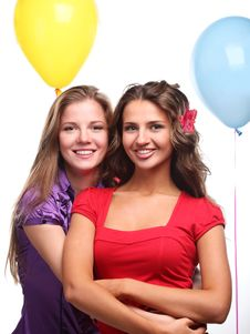 Free Girlfriends And Balloons Royalty Free Stock Photos - 14536708