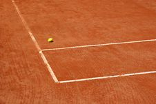 Tennis Court With Blurred Ball Stock Photography