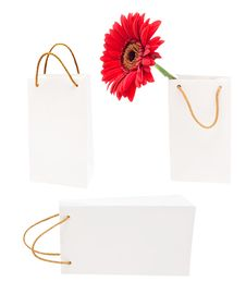 White Gift Packages Stock Image