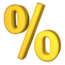 Free Golden Percent Stock Image - 14537021