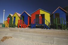 Free Wooden Changing Cabins At The Beach, Cape Town Stock Images - 14537294