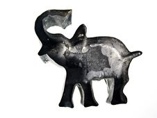 Vintage Elephant Cookie Cutter Royalty Free Stock Image