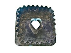 Vintage Heart Cookie Cutter Stock Photos