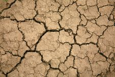 Free Droughty Soil Close Up Stock Photography - 14538362