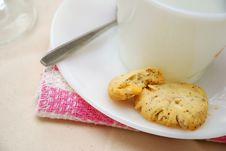 Free Half Eaten Cookies For Afternoon Snack Royalty Free Stock Photography - 14538557