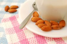 Free Closeup Of Almonds Beside Beverage Stock Image - 14538581