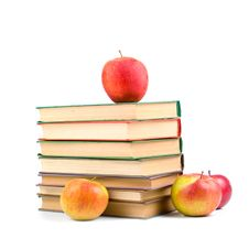 Free Apples And Books Stock Images - 14538684