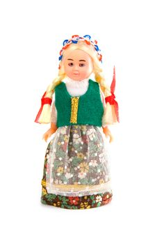 Free Doll In The Polish National Costume Royalty Free Stock Image - 14538736