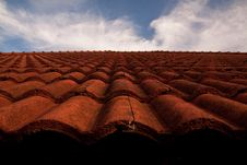 Free Red Roof And The Sky. Royalty Free Stock Photo - 14539265