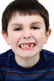 Free Young Boy Grimacing Stock Images - 14539434