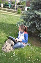 Free Young Student Learning Outdoors With Laptop Royalty Free Stock Images - 14545009