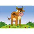 Free Shy Cow At The Meadow Royalty Free Stock Photos - 14545618