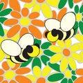 Free Bee Flower Wallpaper Royalty Free Stock Image - 14547766