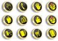 Free Computer Golden Web Icon Set Stock Image - 14548441