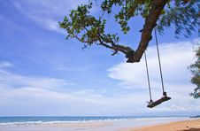 Free Wood Swing On Beach, East Of Thailand Royalty Free Stock Photography - 14540167