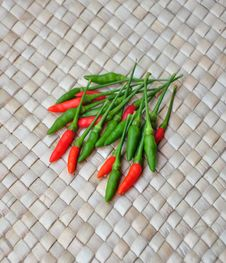 Free Red And Green Chillies Royalty Free Stock Image - 14540696