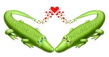 Free Two Green Crocodile Royalty Free Stock Photo - 14540845