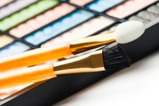 The Palette For Makeup Stock Photo