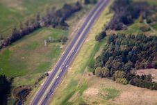 Highway Panorama Royalty Free Stock Photo