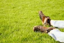 Free Feet On The Grass Royalty Free Stock Photo - 14544375