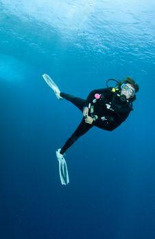 Free Female Scuba Diver Stock Photo - 14544720