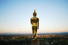 Buddha On The Mountain Stock Photography