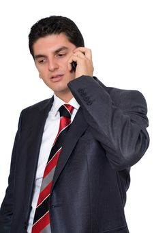 Free Businessman Listening To Someone On The Phone Stock Photo - 14544850