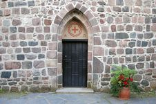 Entrance To The Church Stock Photography