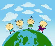 Free Vector Happy Kids Royalty Free Stock Photo - 14545435