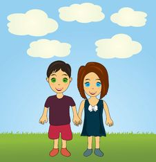 Free Vector Happy Kids Stock Image - 14545551