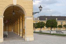 Colonnade Of Schonbrunn Stock Photography