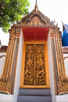 Free A Door In Thailand S Grand Palace Royalty Free Stock Photography - 14546287
