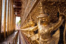 Garuda At Temple S Base, Thailand S Grand Palace Stock Photo