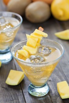 Mango Cocktail Royalty Free Stock Photography
