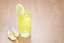 Glass Of Lemon Beverage Stock Photos