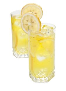 Free Lemon Beverage On White Stock Photos - 14547043