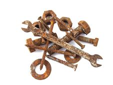 Free Rusty Nuts And Bolts Royalty Free Stock Images - 14547489