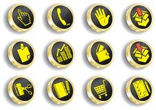 Free Computer Golden Web Icon Set Stock Image - 14548441