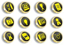 Free Computer Golden Web Icon Set Stock Photo - 14548510