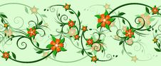 Free Horizontally Seamless Floral Pattern Royalty Free Stock Images - 14548599