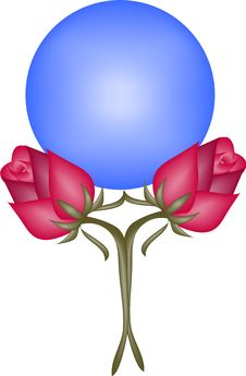 Blue Globe And Roses Royalty Free Stock Images