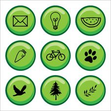 Free Web Buttons Green Icons Stock Images - 14548994