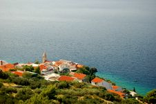 Free Spectacular Scene Of Village Pisak In Dalmatia, Cr Royalty Free Stock Photography - 14549127