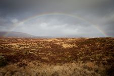 Free Rainbow At Rannoch Moore - Scotland Royalty Free Stock Photos - 14549188